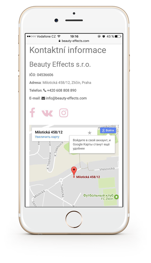 Kontaktní informace Beauty Effects