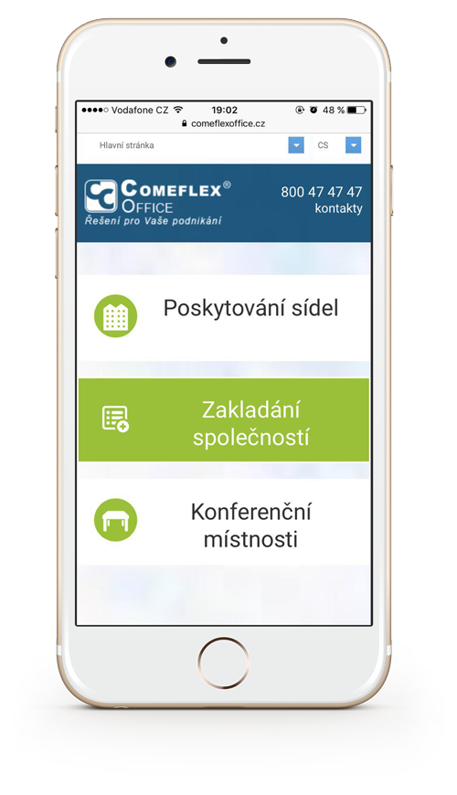 Главная страница Comeflex Consulting