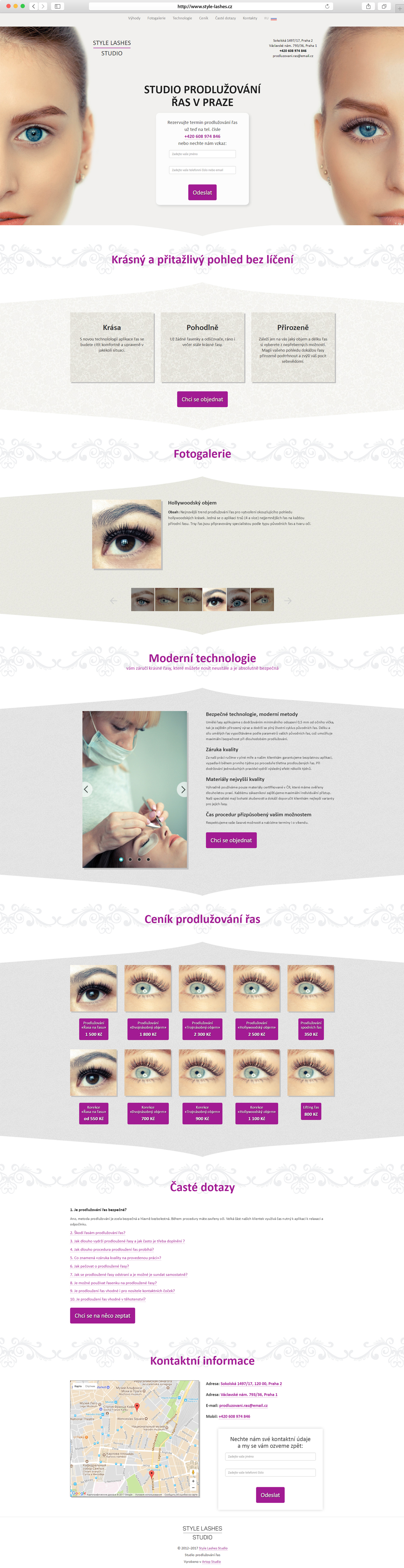 Homepage www.style-lashes.cz